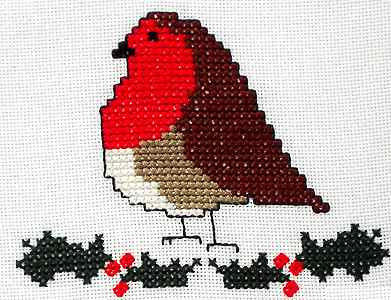 Click for more details of Christmas Robin (cross stitch) by Anne Peden