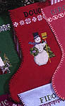 Click for more details of Christmas Stockings (cross-stitch pattern) by Ginger & Spice