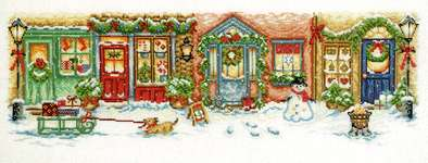 Click for more details of Christmas Street (cross stitch) by Permin of Copenhagen