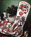 Click for more details of Christmas Surprise Stocking (cross-stitch) by Stoney Creek
