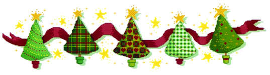 Click for more details of Christmas Trees (cross-stitch kit) by Cinnamon Cat