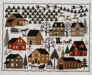 Click for more details of Christmas Village (cross stitch) by The Prairie Schooler
