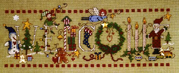 Click for more details of Christmas Welcome (cross-stitch pattern) by Imaginating