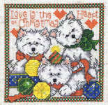 Click for more details of Christmas Westies (cross-stitch pattern) by Imaginating