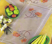 Click for more details of Chrysanthemum Table Runner (embroidery kit) by Permin of Copenhagen