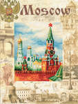 Click for more details of Cities of the World - Moscow (embellished cross-stitch kit) by Riolis