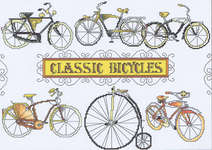 Click for more details of Classic Bicycles (cross-stitch pattern) by Vickery Collection