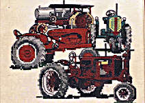 Click for more details of Classic Tractors (cross stitch) by Puckerbush Inc.