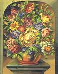 Click for more details of Classical Flower Vase (cross stitch) by Eva Rosenstand