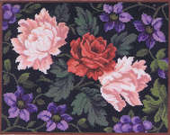 Click for more details of Clematis and Roses (cross-stitch kit) by Eva Rosenstand