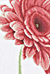 Click for more details of Close Up Pink Flower (cross-stitch kit) by Lanarte