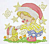 Click for more details of Clown Buddies (cross-stitch kit) by Pinn Stitch
