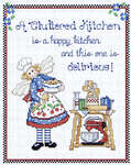 Click for more details of Cluttered Kitchen (cross-stitch) by Sue Hillis Designs