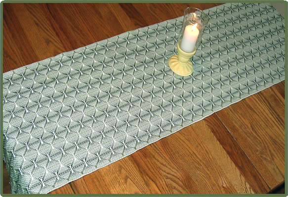 Click for more details of Cobblestone Runner (swedish weaving pattern) by Swedish Weave Designs