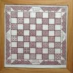 Click for more details of Coloris Chessboard (blackwork) by DoodleCraft Design