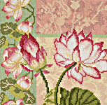 Click for more details of Composition of Lotus Flowers (cross-stitch kit) by Lanarte