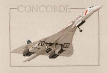 Click for more details of Concorde (cross-stitch kit) by Dave Shaw