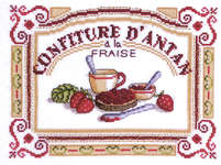 Click for more details of Confiture d'Antan - Strawberry Jam (cross-stitch kit) by Royal Paris
