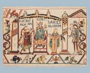 Click for more details of Coronation of Harold (tapestry) by Glorafilia