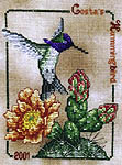 Click for more details of Costa's Hummingbird (cross-stitch) by Crossed Wing Collection