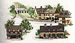 Click for more details of Cotswold Village (cross-stitch kit) by Rose Swalwell
