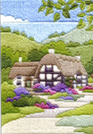 Click for more details of Cottages Summer (long-stitch) by Rose Swalwell