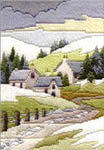 Click for more details of Cottages Winter (long-stitch) by Rose Swalwell