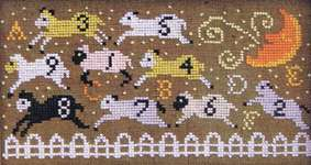 Click for more details of Counting Sheep (cross stitch) by Carriage House Samplings