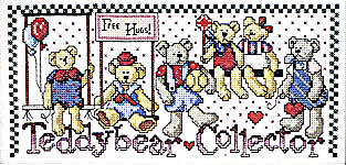 Click for more details of Country ABCs with Bear and Bunnies Collector (cross stitch) by Jeremiah Junction