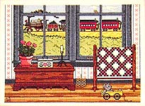 Click for more details of Country Windows (cross stitch) by Patricia Gaskin