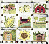 Click for more details of Countryside Quilts (cross-stitch pattern) by StitchWorld