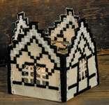 Click for more details of Cream House Tealight Holder (hardanger) by Permin of Copenhagen