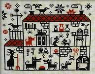 Click for more details of Crowded House (cross stitch) by Barbara Ana Designs
