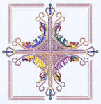 Click for more details of Crown Cross (cross stitch) by Mike Vickery
