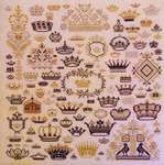 Click for more details of Crowns of the Kingdom (cross-stitch) by Rosewood Manor