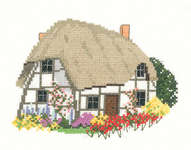 Click for more details of Cruck Cottage (cross-stitch) by Sue Ryder