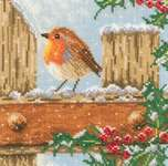 Curious Robin - cross-stitch kit by Lanarte