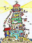 Click for more details of Cut Thru' Lighthouse (cross-stitch) by Bothy Threads
