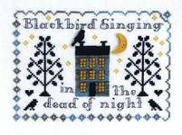Click for more details of Cute Mod Owl and Blackbird Singing (cross stitch) by Tiny Modernist