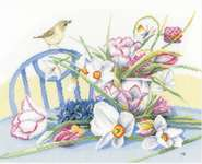 Daffodils on a Table - cross-stitch kit by Marjolein Bastin