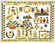 Click for more details of Daniel 1809 Sampler (cross-stitch kit) by Permin of Copenhagen
