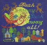 Click for more details of Dash Away All (cross stitch) by Tempting Tangles Designs