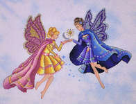 Click for more details of Day and Night Fairies (cross-stitch) by Cross Stitching Art