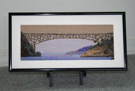 Click for more details of Deception Pass Bridge  (cross-stitch) by Mary Gaines