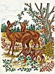 Click for more details of Deer and Fawns (cross stitch) by Eva Rosenstand