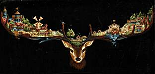 Click for more details of Deer Land (cross stitch) by Andriana