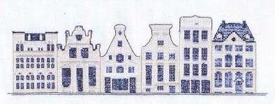 Click for more details of Delft Blue Houses (cross stitch) by Thea Gouverneur