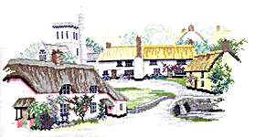 Click for more details of Devon Village (cross-stitch kit) by Rose Swalwell
