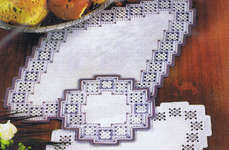 Click for more details of Diamond Hardanger Table Mat (hardanger kit) by Permin of Copenhagen
