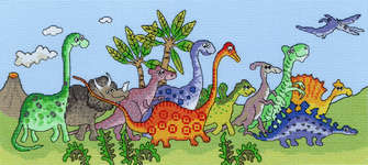 Click for more details of Dinosaur Fun (cross stitch) by Bothy Threads